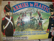 54MM ARMIES IN PLASTIC NAPOLEONIC FRENCH OLD GUARD FOOT ARTILLERY CREW