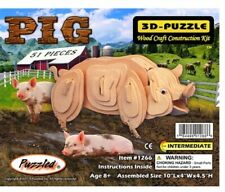 Holzbausatz Schwein - 3D Puzzle