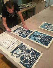 SHEPARD FAIREY OBEY PAINT IT BLACK 3 PRINT SET SIGNED & NUMBERED LIMITED POSTER