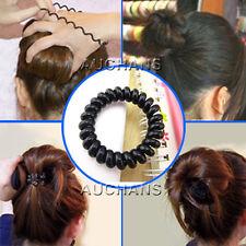 3PCS Hair Rope Elastic Girl Telephone Shape Wire Style Hair Ties Plastic Rope