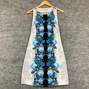 Bec & Bridge Womens Dress Size 10 White Floral Sleeveless Round Neck 9.09