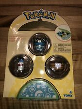Tomy Pokemon Petite Pals Froakie Mini Figure 3-Pack with Holder