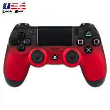 Custom Shadow Red Repair Cover Front Housing Shell for PS4 Wireless Controller