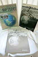 Abeka World Geography Student Tests & Tests Key, 9th Grade, Map Studies Key