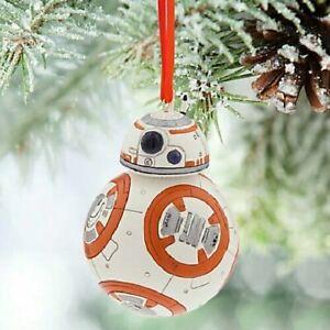 New Disney Store Star Wars BB-8 Droid Sketchbook Christmas Ornament-2015