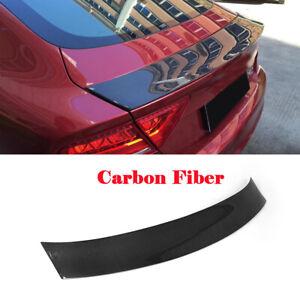 Carbon Fiber Rear Trunk Lid Lip Spoiler Kits Fit for Audi A7 S7 RS7 2011-2014