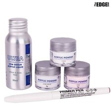 The Edge ULTRA Acrylic Liquid & Powder TRIAL Kit False Nail Students & Starters