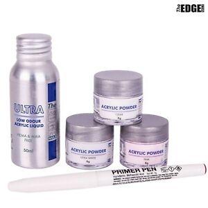 Edge ULTRA Acrylic Liquid & Powder TRIAL Kit False Nail Students & Starters