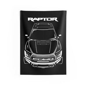 Ford F150 Raptor 2017-2020 - Wall Tapestry - Built Tough - Raptor Wall Art