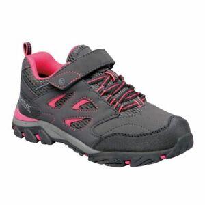 Regatta Kids Holcombe IEP Waterproof Breathable Walking Shoes Grey Steel UK6
