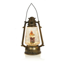 24cm Robin Wearing Scarf Christmas Water Spinner Lantern