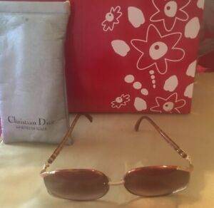 Christian Dior Vintage Sunglasses + Silver Slip Case Model:  2250 14  63/17