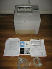 HP LaserJet 4100N Workgroup Laser Printer+Toner,Cables,Manual -PLEASE READ