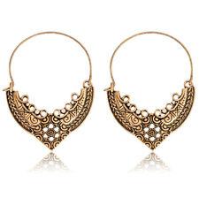 Big Ethnic Earrings Tribal Aztec Hippy Boho Dangle VTG Gold Tibetan Hoop Indian