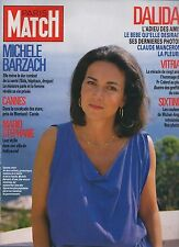 paris match n°1982 dalida michele barzach cannes stephanie monaco donna rice