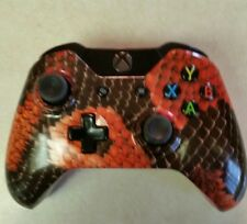 Xbox One Red Dragon Scales Wireless Controller - modified