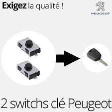 2 X switch pour clé télécommande Peugeot 206, 206+, 206CC et 106 - SW01