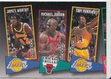 1992-93 SkyBox School Ties James Worthy Michael Jordan Sam Perkins