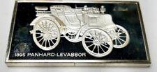 1974 STERLING SILVER FRANKLIN MINT CENTENNIAL CAR INGOT-1895 PANHARD-LEVASSOR