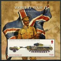 Montserrat Military Stamps 2018 MNH WWII WW2 World War II Tanks 1v S/S