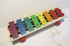 VINTAGE FISHER PRICE PULL-A-TUNE XYLOPHONE TOY ANTIQUE 1964