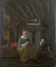 EARLY 17th CENTURY Dutch School Oil Painting on Board, MONOGRAMMED and DATED