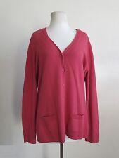 LORO PIANA 2 piece rose 100% cashmere cardigan and tank 48 fits 10 12