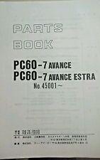 KOMATSU PC60-7 AVANCE PC60-7 AVANCE ESTRA  PARTS MANUAL