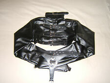 Straight jacket, Black half costume party escapology suit, Leather