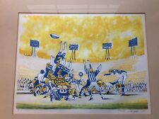 Original Signed Lithograph By Dong Kingman The Last Five Seconds Football #6/150