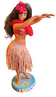 """Vtg 1960's Hawaiian 12"""" Hula Girl Sarco Doll Figurine Lei Hawaii Luau Dancer"""