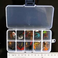 Free Box w/ 20 Assorted Saltwater Freshwater Fly Fishing Flies DRY Wet HOOK size