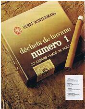 PUBLICITE ADVERTISING 114 1977 HENRI WINTERMANS cigares