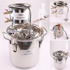 2GAL/10L Destille Alambic mit Thermometer zur Herstellung Alkohol Ätherische Öle