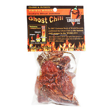 DRIED PODS AUTHENIC INDIAN BHUT JOLOKIA NAGA GHOST CHILI PEPPER 1/2 oz .5 oz