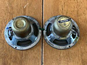 Vintage GRUNDIG gold alnico 4'' high frequency speakers matched pair TWEETERS