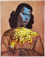 "Vladimir Tretchikoff ""Green Lady"" Chinese Girl Mid-Century Modern Art Print"