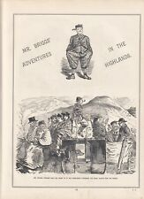1859 Punch Cartoons Mr Briggs' Adventures in the Highlands - 7 Sides of 4 Pages