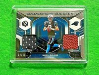 WILL GRIER DUAL PATCH SUCCESS SP#/99 CAROLINA PANTHERS 2019 ELEMENTS FOOTBALL SP