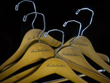 BROOKS BROTHERS Wooden Hangers - 5 Pcs  BB LOGO  Suit Pants Shirt   - New