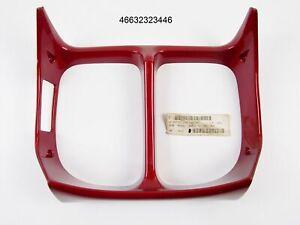 NOS OEM BMW K75 RADIATOR TRIM PANEL CENTER BURGUNDY RED 46632323446