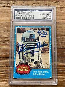 PSA/DNA Kenny Baker R2-D2 Autographed 1977 Topps STAR WARS #3 Signed