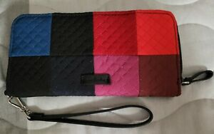 VERA BRADLEY Winter Patchwork Iconic RFID Accordion Wristlet Wallet, Pre-owned