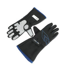 NRG Innovations Pair Large Size Auto Racing Full Finger Leather Gloves GS-500BK
