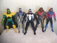 """Marvel Action Figure Lot Venom Cosmic Spiderman Gambit Bishop Mandarin 10"""""""