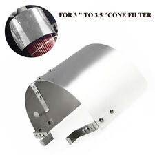 "Universal Stainless Steel Car Air Intake Heat Shield for 3"" to 3.5"" inlet Filter"