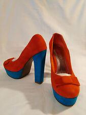 Zapatos de tacon naranja