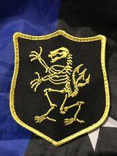 NAVY SEAL DEVGRU GOLD SQUADRON Yellow Skeleton Bone Shield Embroider Hk/Lp Patch
