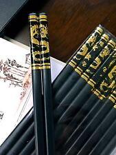 10 Pair chopsticks  Chinese characteristics golden dragon alloying  金龙合金筷子