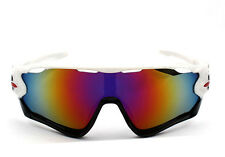 Sports Glasses Cycling Goggles Bike Motorcycle Bicycle Sunglasses UV Protection Black White